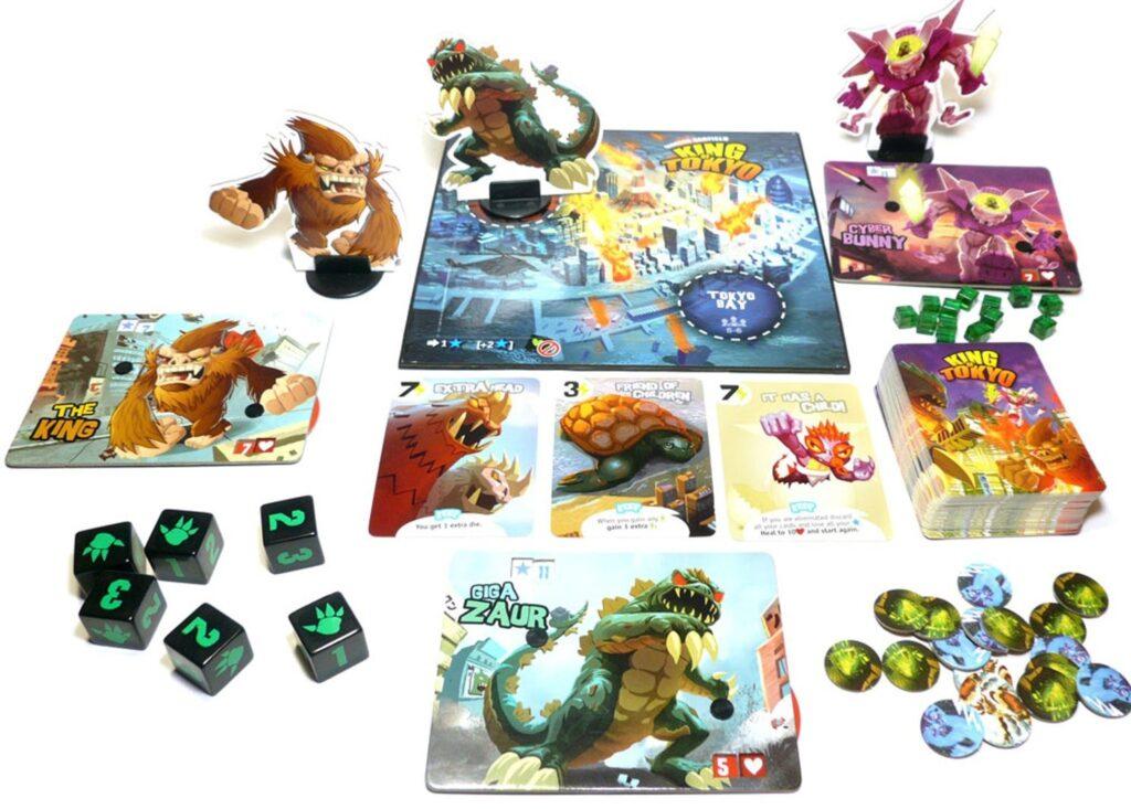 King of Tokyo juego de mesa componentes