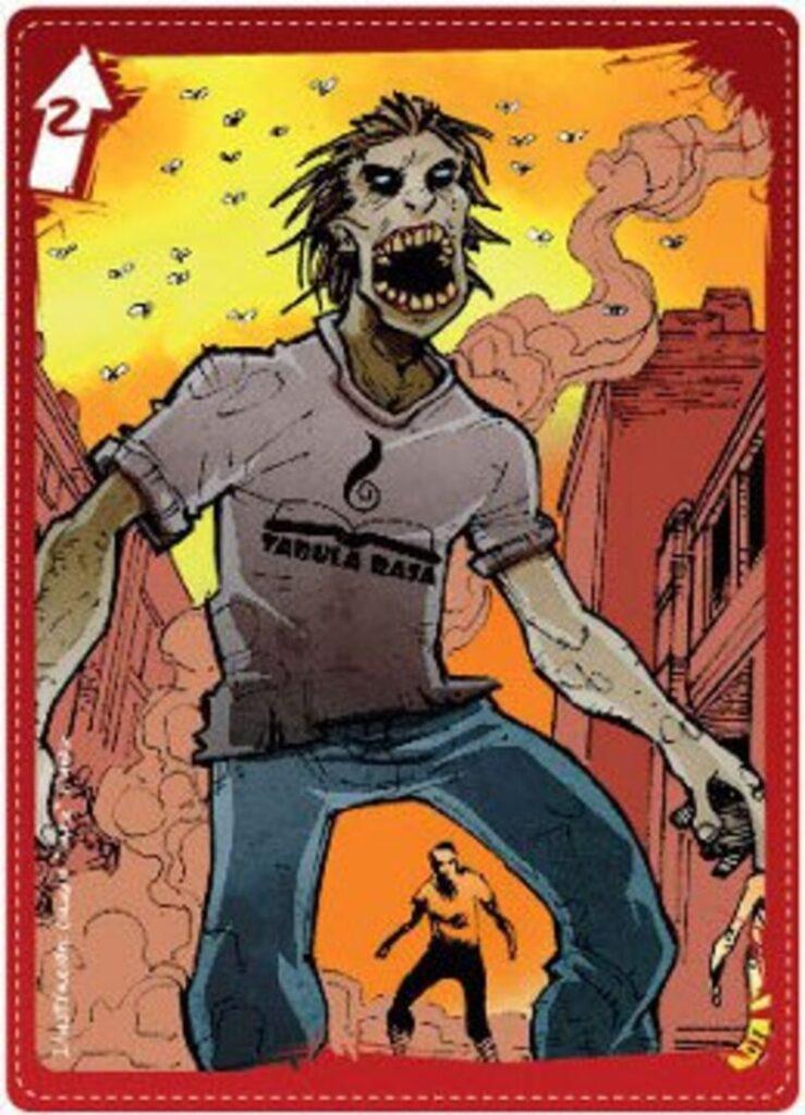 Zombies en La Moneda carta zombie