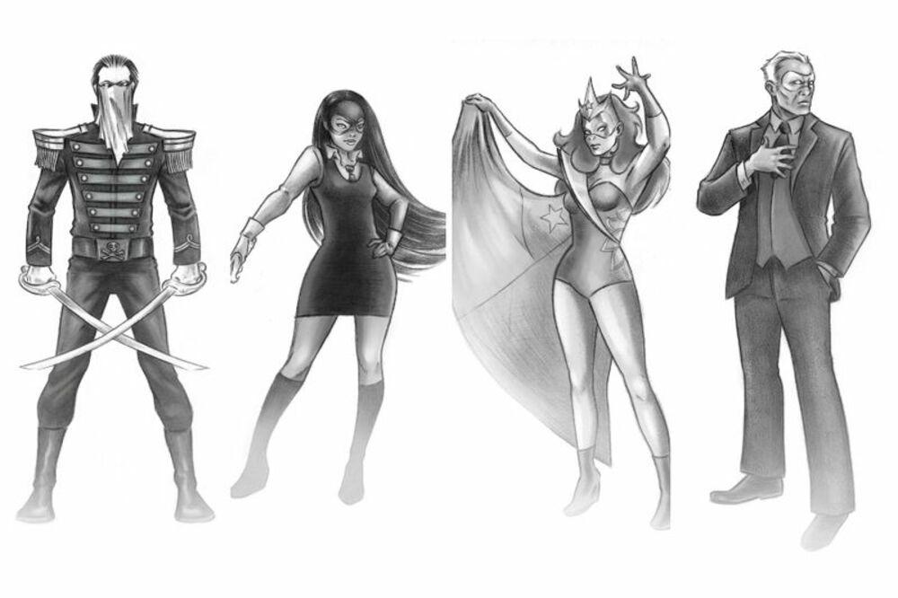 Disfrazados ilustraciones superhéroes Francisco Ortega
