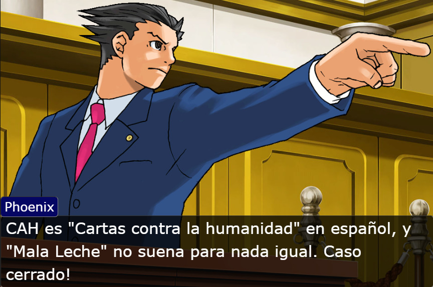 Phoenix Ace Attourney Objection Mala Leche