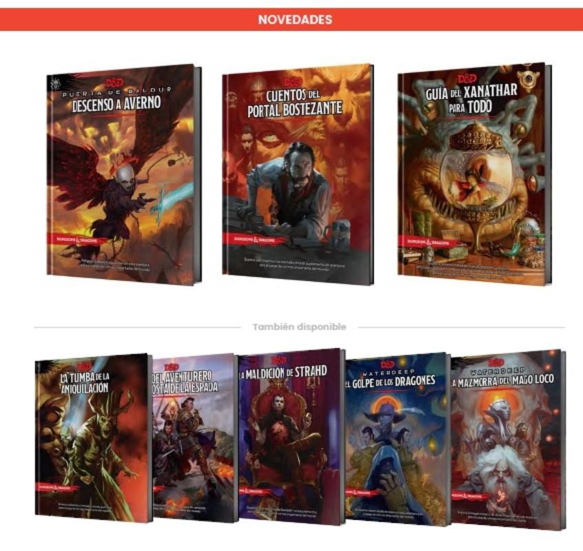 Catálogo 2021 Asmodee Juegos de Rol Dungeons and Dragons D&D