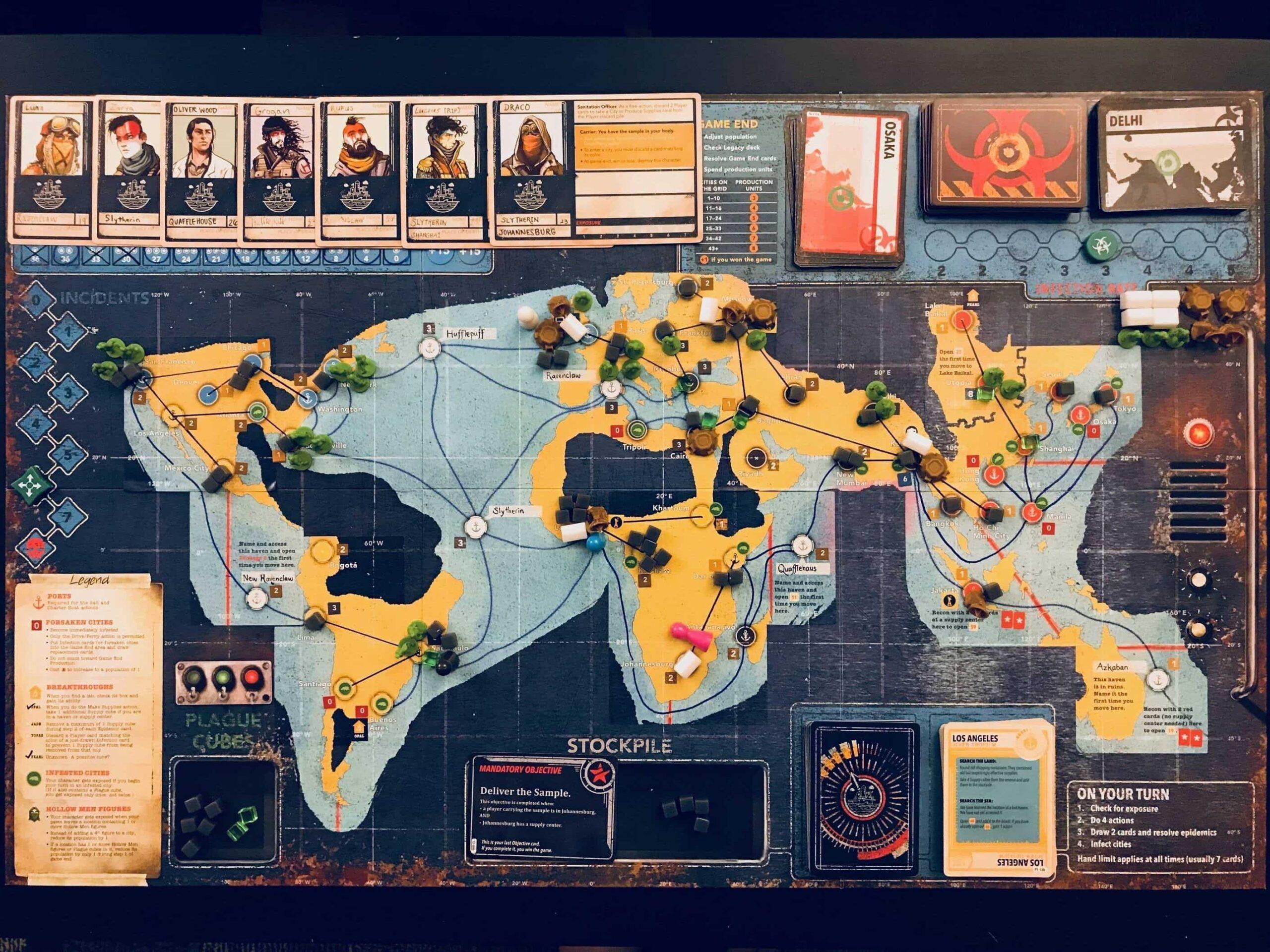 Pandemic Legacy tablero