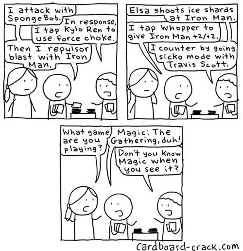 Cardboard Crack comic Magic