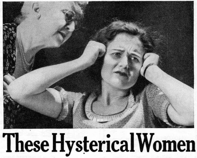 Mujerea histeria propaganda