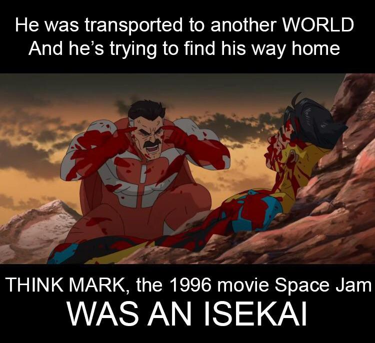 Space Jam isekai meme
