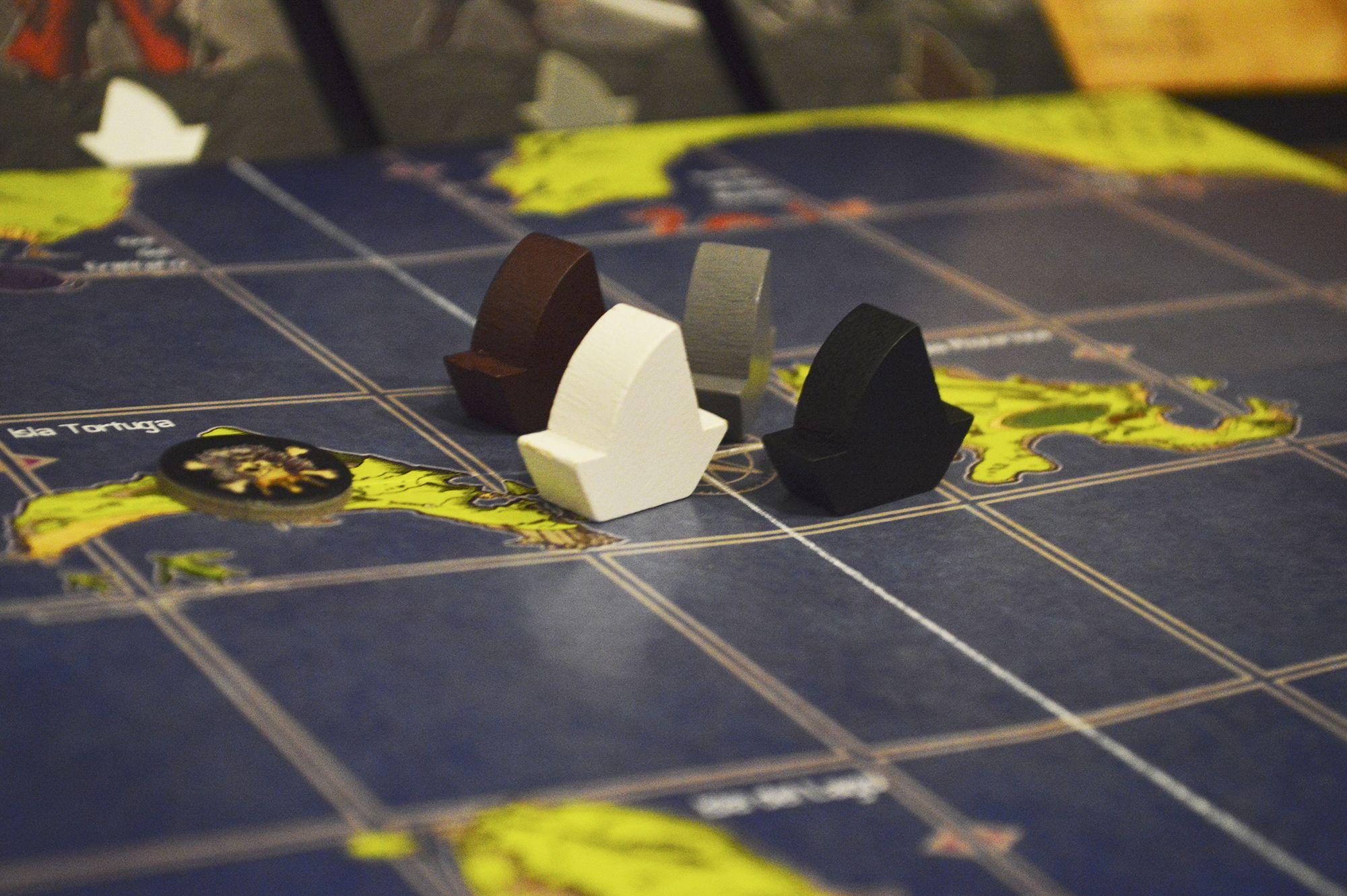 Fichas barco Tesoros Rey Pirata juego de mesa