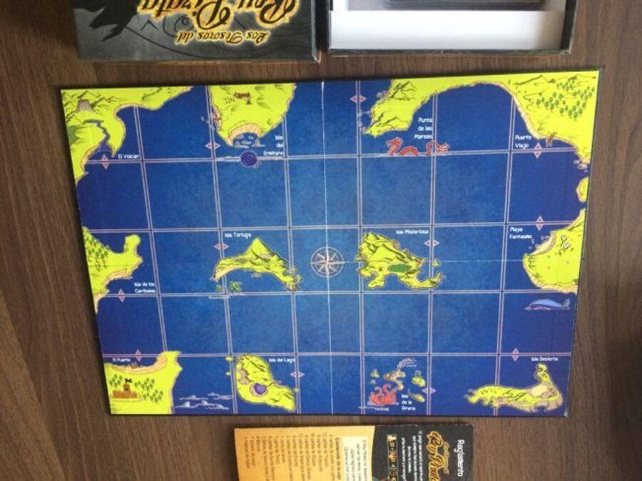 Tablero juego de mesa tesoros rey pirata
