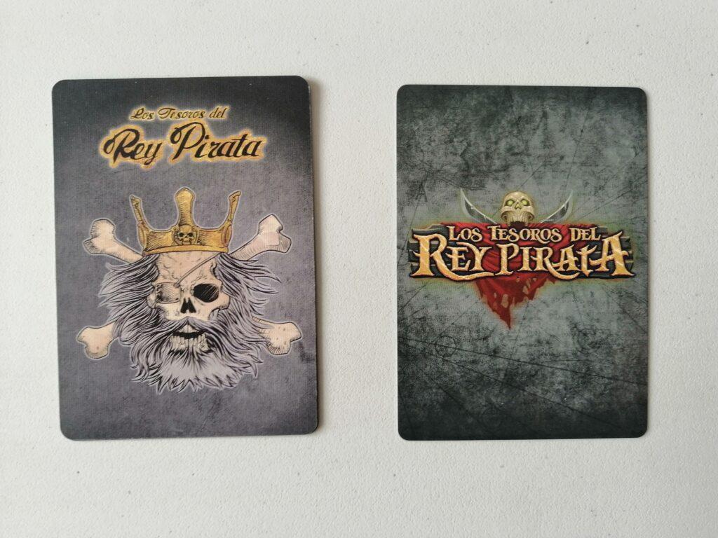 Los Tesoros del Rey Pirata comparación reverso cartas