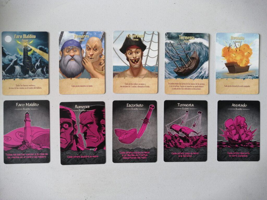 Los Tesoros del Rey Pirata comparación cartas